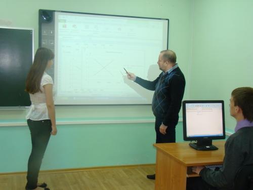 лекции  по  экономике  в  лицее  №3  города  Старый  Оскол