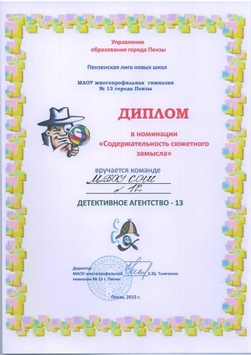 2015, Детективное агентство-13