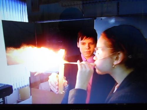 """Внеклассное мероприятие по химии """"Кислород.Горение"""""""
