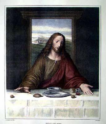 Хлеб и вино. Леонардо да Винчи