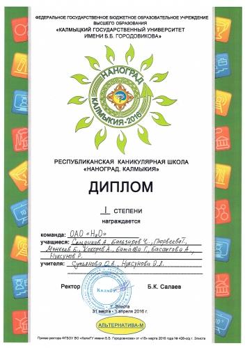 """Региональная Каникулярная школа """"Наноград. Калмыкия 2016 года"""""""