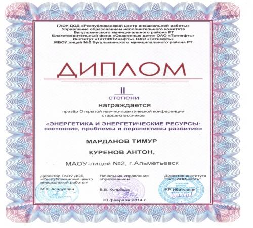 Олимпиады, научно-практические конференции, турниры. г.Альметьевск