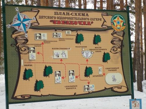 План лагеря