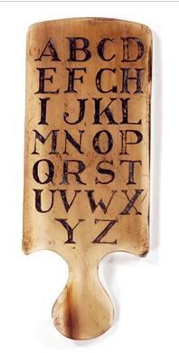 Первая обучающая машина - роговая книга. Англия, 15 век